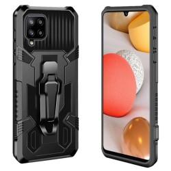 Funda Tough Armor Negra con Clip Magnético para Samsung Galaxy A42 5G
