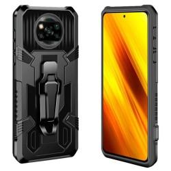 Funda Tough Armor Negra con Clip Magnético para Xiaomi POCO X3 NFC / X3 PRO