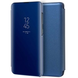 Funda Flip Cover Clear View para Xiaomi Redmi Note 9T 5G color Azul