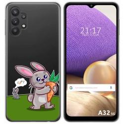Funda Gel Transparente para Samsung Galaxy A32 5G diseño Conejo Dibujos