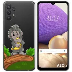 Funda Gel Transparente para Samsung Galaxy A32 5G diseño Mono Dibujos