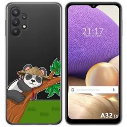 Funda Gel Transparente para Samsung Galaxy A32 5G diseño Panda Dibujos