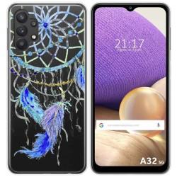Funda Gel Transparente para Samsung Galaxy A32 5G diseño Plumas Dibujos