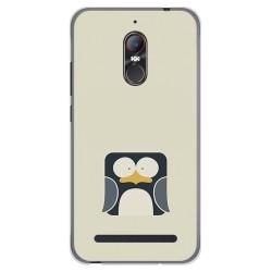 Funda Gel Tpu para Zte Nubia N1 Lite Diseño Pingüino Dibujos