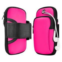 Brazalete de Deporte con Banda Elástica para Correr Color Rosa