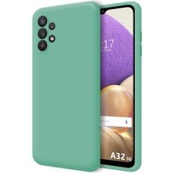 Funda Silicona Líquida Ultra Suave para Samsung Galaxy A32 5G color Verde