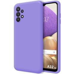 Funda Silicona Líquida Ultra Suave para Samsung Galaxy A32 5G color Morada