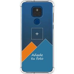 Personaliza tu Funda Silicona Anti-Golpes Transparente con tu Fotografía para Motorola Moto G9 Play / E7 Plus personalizada