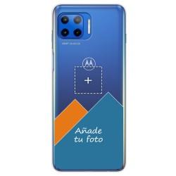 Personaliza tu Funda Gel Silicona Transparente con tu Fotografia para Motorola Moto G 5G Plus dibujo personalizada