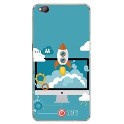 Funda Gel Tpu para Zte Nubia M2 Lite Diseño Cohete Dibujos