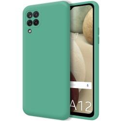 Funda Silicona Líquida Ultra Suave para Samsung Galaxy A12 color Verde