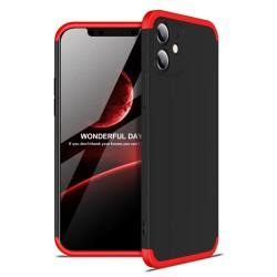 Funda Carcasa GKK 360 para Iphone 12 Mini (5.4) color Negra / Roja