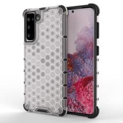 Funda Tipo Honeycomb Armor (Pc+Tpu) Transparente para Samsung Galaxy S21 5G