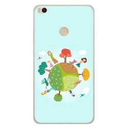 Funda Gel Tpu para Xiaomi Mi Max 2 Diseño Familia Dibujos