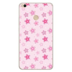 Funda Gel Tpu para Xiaomi Mi Max 2 Diseño Flores Dibujos