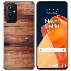Funda Gel Tpu para OnePlus 9 5G diseño Madera 02 Dibujos