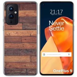 Funda Gel Tpu para OnePlus 9 5G diseño Madera 03 Dibujos