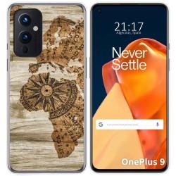 Funda Gel Tpu para OnePlus 9 5G diseño Madera 07 Dibujos