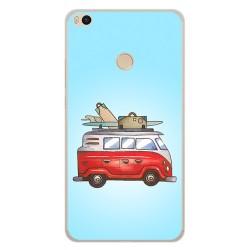 Funda Gel Tpu para Xiaomi Mi Max 2 Diseño Furgoneta Dibujos