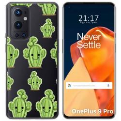 Funda Gel Transparente para OnePlus 9 Pro 5G diseño Cactus Dibujos