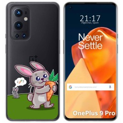 Funda Gel Transparente para OnePlus 9 Pro 5G diseño Conejo Dibujos