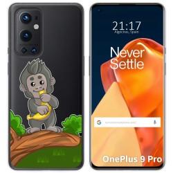 Funda Gel Transparente para OnePlus 9 Pro 5G diseño Mono Dibujos