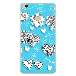 Funda Gel Tpu para Xiaomi Mi Max 2 Diseño Mariposas Dibujos