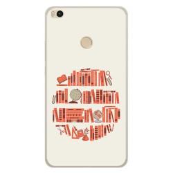 Funda Gel Tpu para Xiaomi Mi Max 2 Diseño Mundo Libro Dibujos