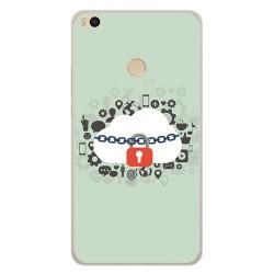 Funda Gel Tpu para Xiaomi Mi Max 2 Diseño Nube Dibujos