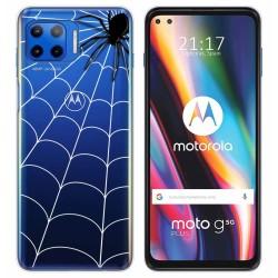 Funda Gel Transparente para Motorola Moto G 5G Plus diseño Araña Dibujos