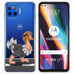 Funda Gel Transparente para Motorola Moto G 5G Plus diseño Avestruz Dibujos