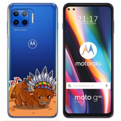 Funda Gel Transparente para Motorola Moto G 5G Plus diseño Bufalo Dibujos