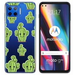 Funda Gel Transparente para Motorola Moto G 5G Plus diseño Cactus Dibujos