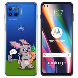 Funda Gel Transparente para Motorola Moto G 5G Plus diseño Conejo Dibujos