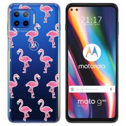 Funda Gel Transparente para Motorola Moto G 5G Plus diseño Flamenco Dibujos