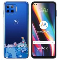 Funda Gel Transparente para Motorola Moto G 5G Plus diseño Hipo Dibujos