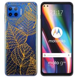 Funda Gel Transparente para Motorola Moto G 5G Plus diseño Hojas Dibujos