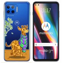 Funda Gel Transparente para Motorola Moto G 5G Plus diseño Jirafa Dibujos