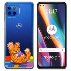 Funda Gel Transparente para Motorola Moto G 5G Plus diseño Leopardo Dibujos