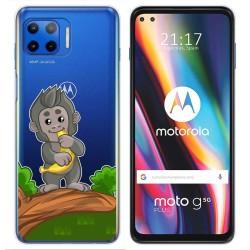 Funda Gel Transparente para Motorola Moto G 5G Plus diseño Mono Dibujos