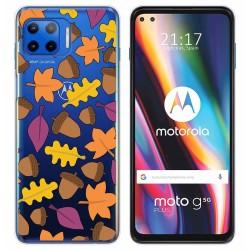 Funda Gel Transparente para Motorola Moto G 5G Plus diseño Otoño Dibujos