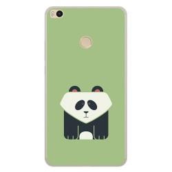 Funda Gel Tpu para Xiaomi Mi Max 2 Diseño Panda Dibujos