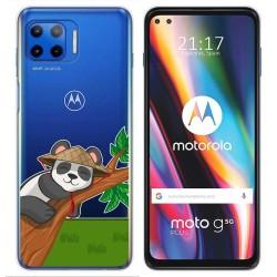Funda Gel Transparente para Motorola Moto G 5G Plus diseño Panda Dibujos