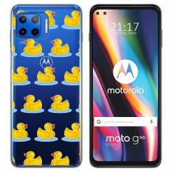 Funda Gel Transparente para Motorola Moto G 5G Plus diseño Pato Dibujos