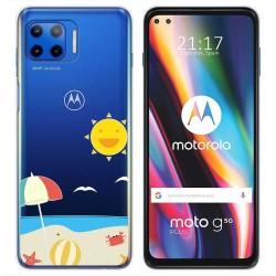 Funda Gel Transparente para Motorola Moto G 5G Plus diseño Playa Dibujos