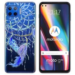 Funda Gel Transparente para Motorola Moto G 5G Plus diseño Plumas Dibujos