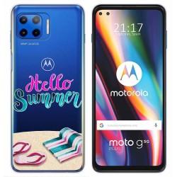 Funda Gel Transparente para Motorola Moto G 5G Plus diseño Summer Dibujos