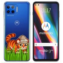 Funda Gel Transparente para Motorola Moto G 5G Plus diseño Tigre Dibujos
