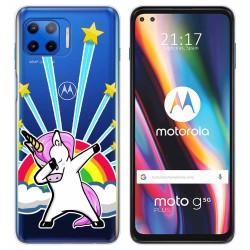Funda Gel Transparente para Motorola Moto G 5G Plus diseño Unicornio Dibujos