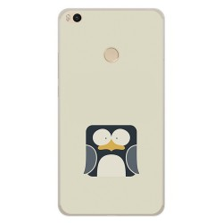 Funda Gel Tpu para Xiaomi Mi Max 2 Diseño Pingüino Dibujos